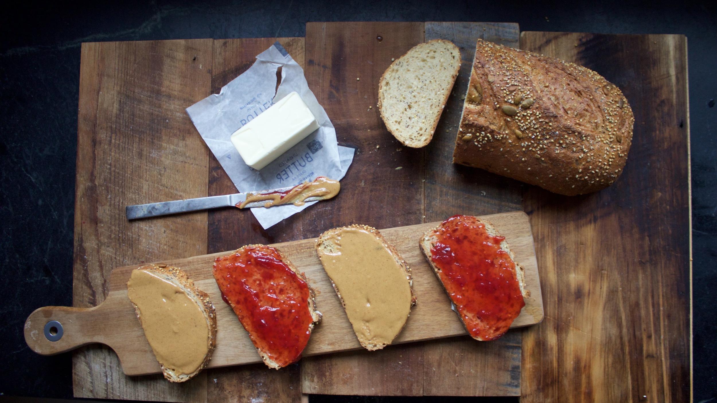 Baking Steel Peanut Butter Sandwich