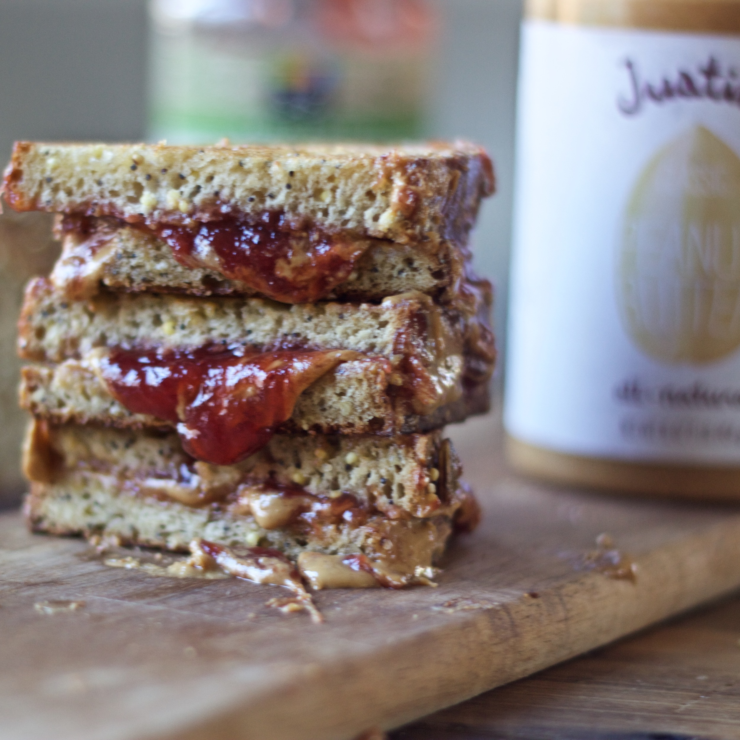 Griddled Peanut Butter and Jelly Sandwich