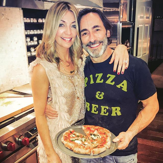 @wanderloveclub  and her better half  @jimchall  had quite the pizza making night this holiday season. Nice guys!