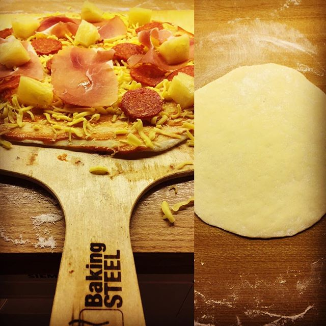@ksamble  made a take on a Hawaiian pizza classic, thanks to his Baking Steel.