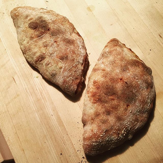 @fischgrape  using his 72-Hour Dough for some calzones. Nice!