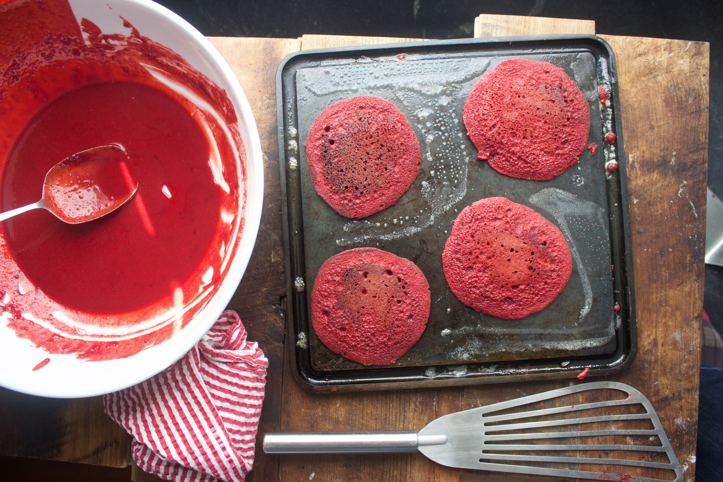 Red Velvet Pancakes and the Mini Griddle