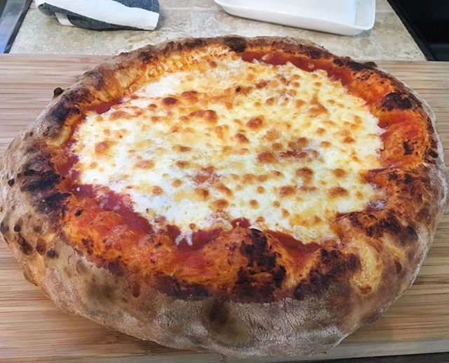 @jarredk415 A perfect circular pizza with a stunning crust!