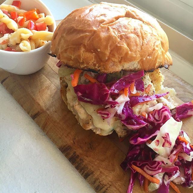 @suitstoaprons Grilled chicken burger? Amazing!