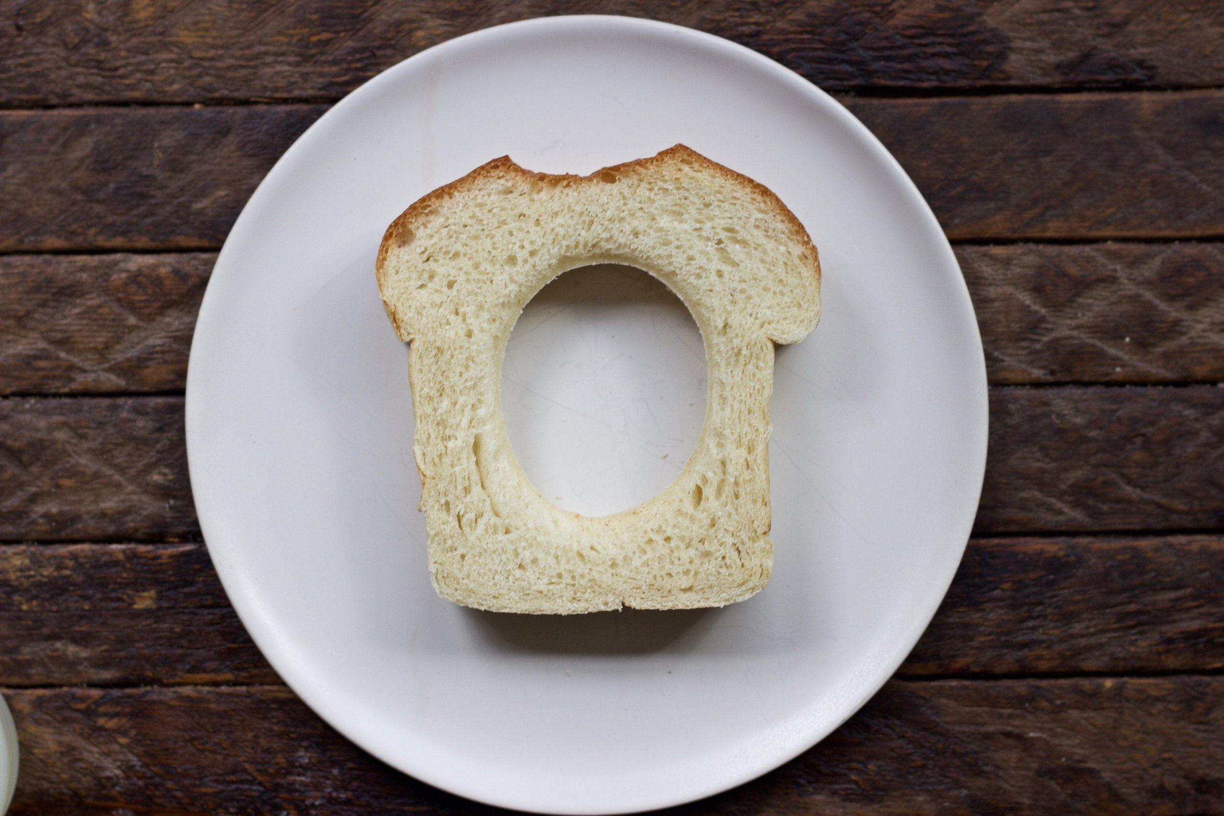 Hole in the bread