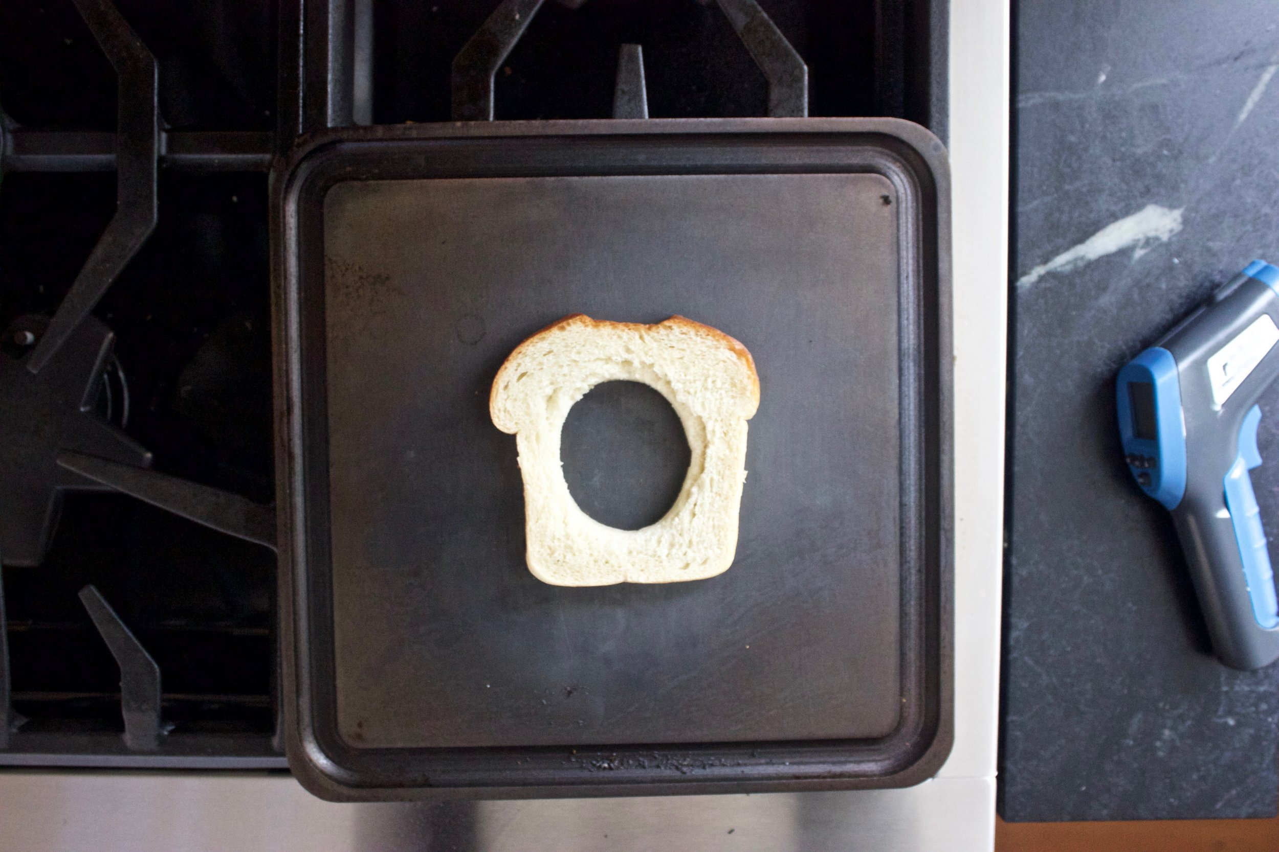 toasting one side of the bread