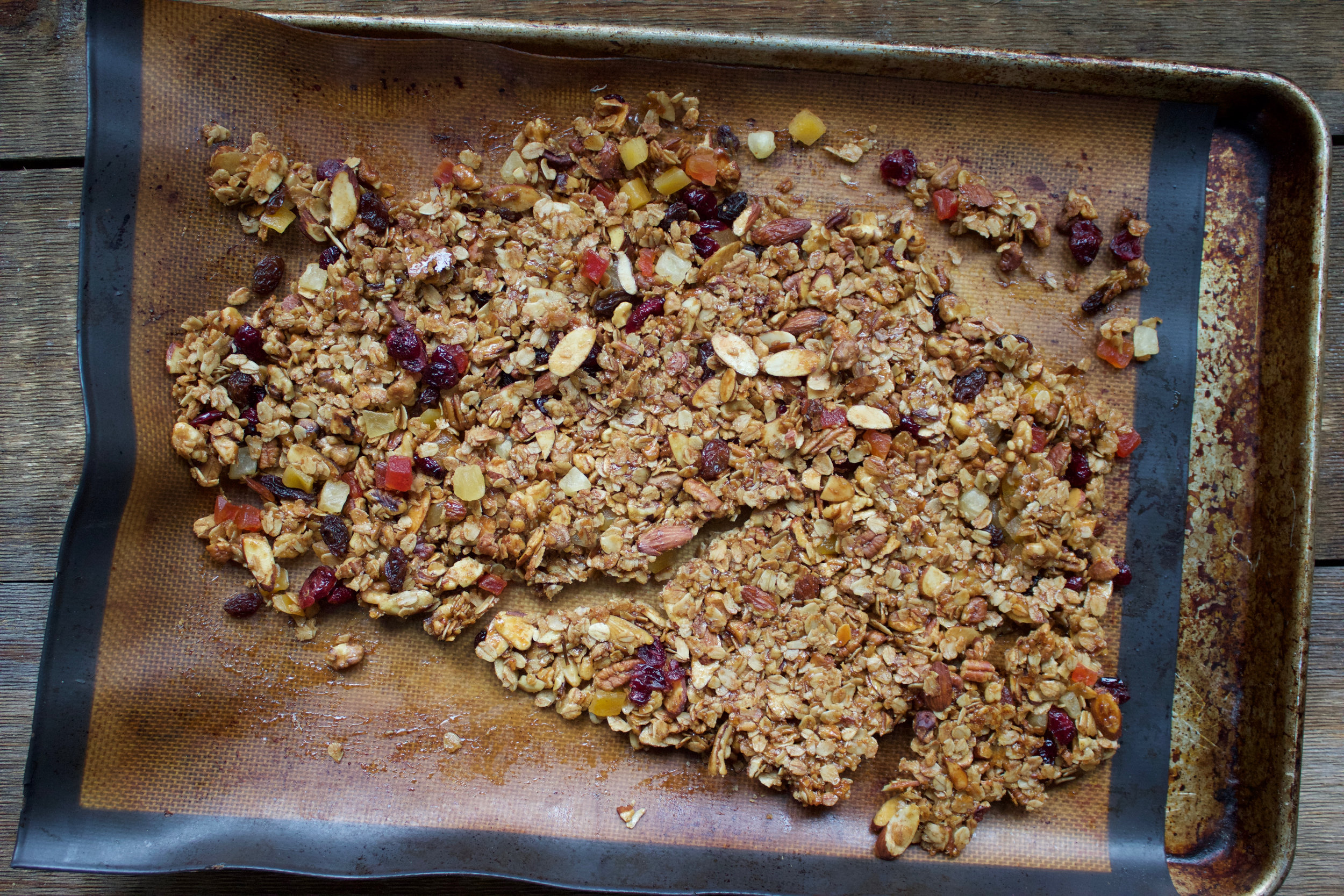 granola after the bake