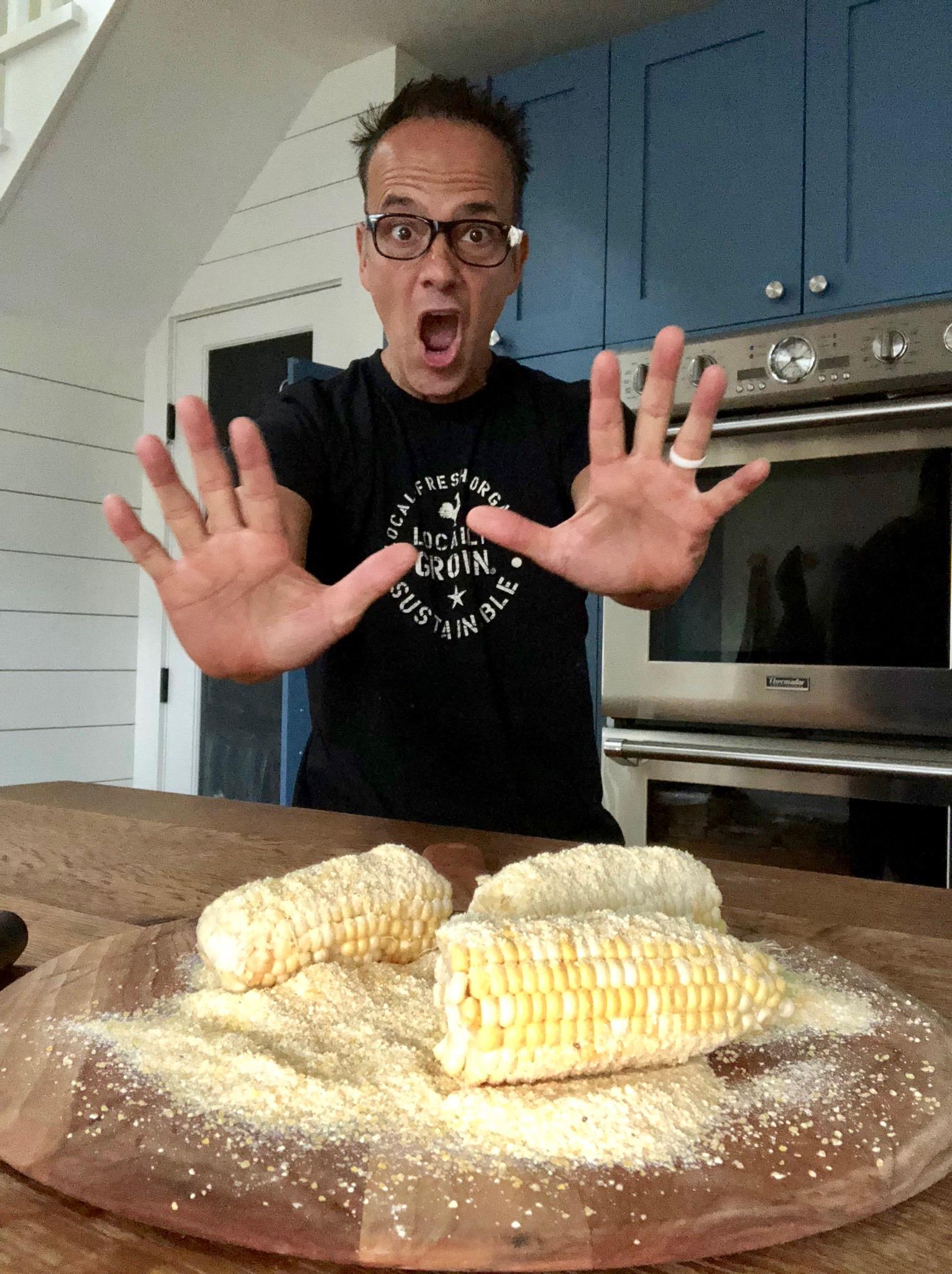 corn on peel