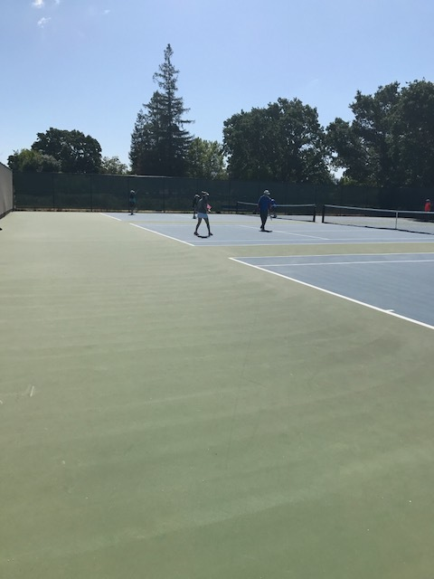 View from the courts!