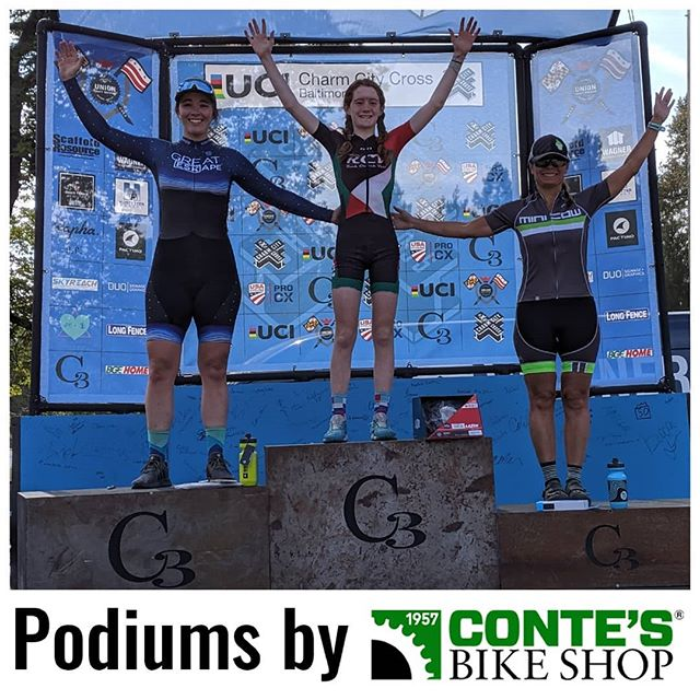 We got a twofer! @kcrobers brought home 2nd place both days of @charmcitycx in the women's 4! #podiumsbycontes #charmcitycx