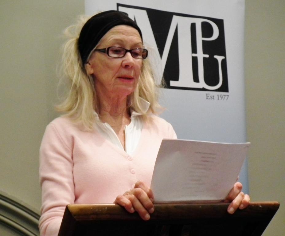 Avril Bradley, Melb Poets Union event