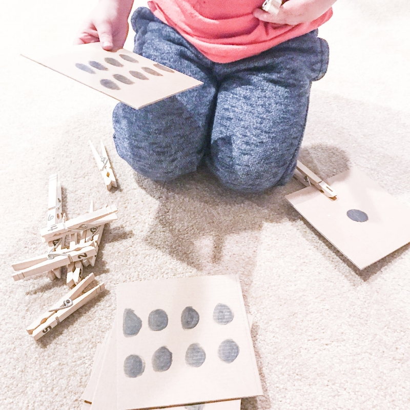 DIY Counting with Cardboard Game for Preschoolers