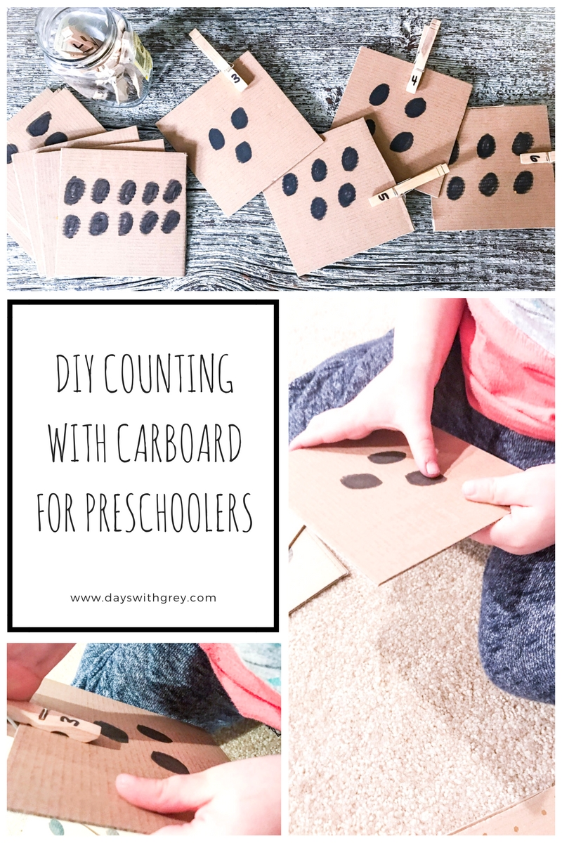 DIY Counting with Cardboard for Preschoolers