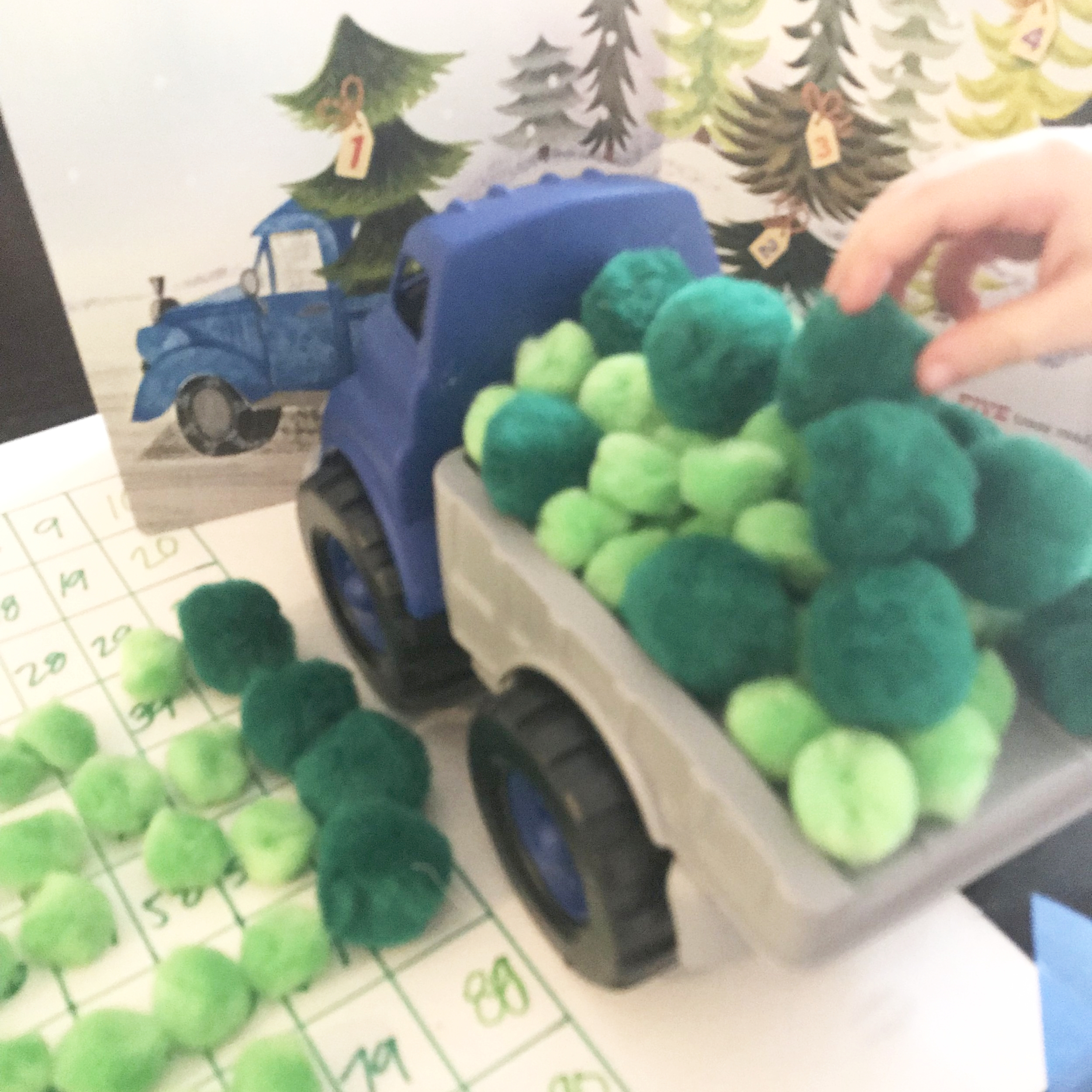 little blue truck preschool activities