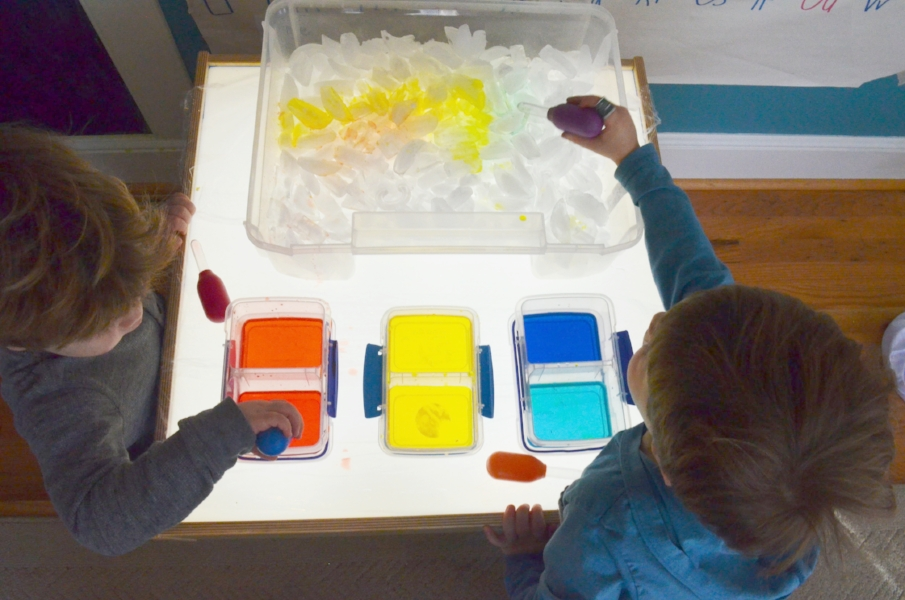 color activity on the light table