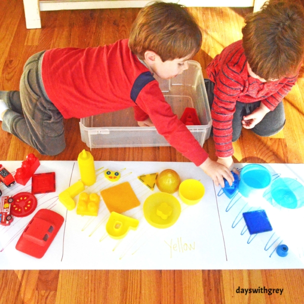 Primary Color Hunt and Sort — Days With Grey