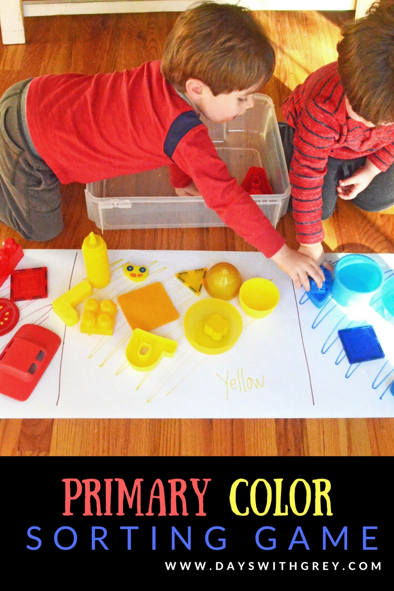 primary color sorting game