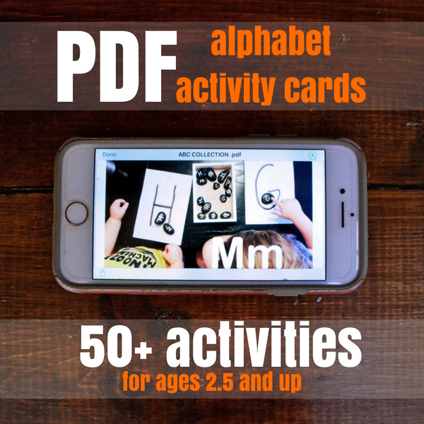 Alphabet Activity Cards for Kindergarten Readiness