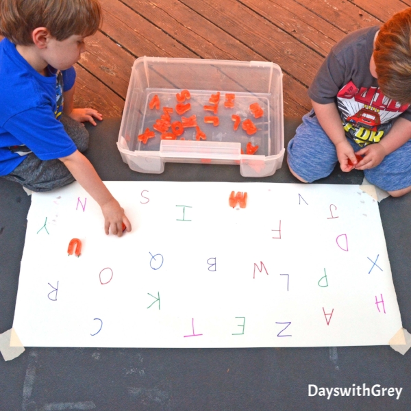 alphabet ice play for kids