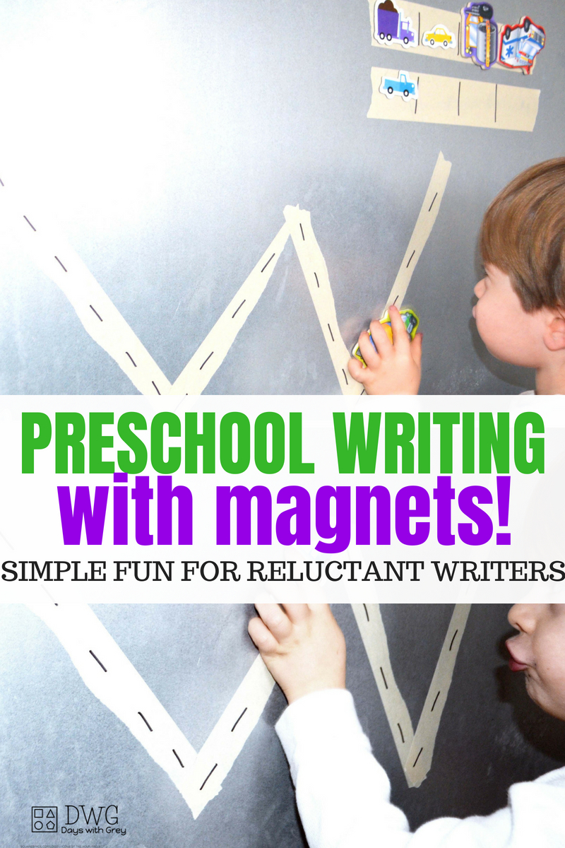 preschool prewriting for reluctant writers