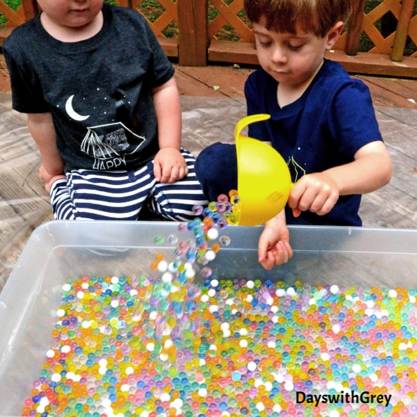 water beads for sensory play