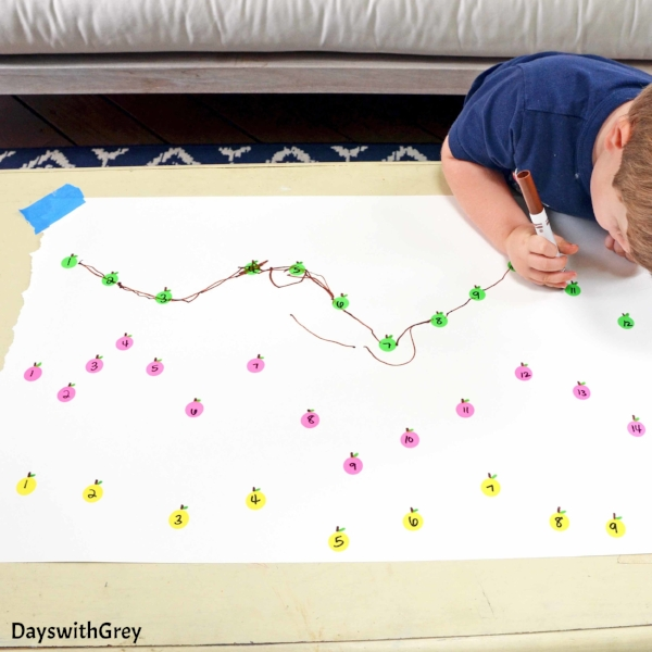 one-to-one correspondence activity for fall