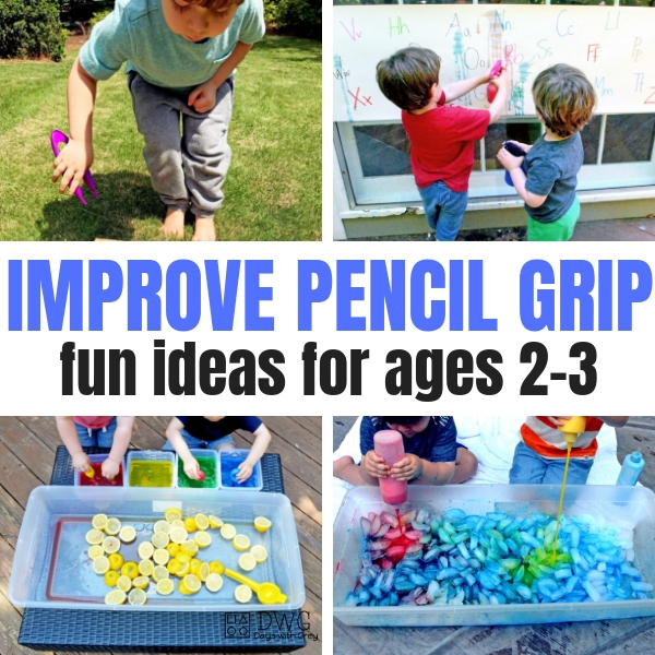 Pencil Grip activities and ideas for toddlers. two-years-old, three-years-old, age 2, age 3 pencil grip, fine motor.jpg