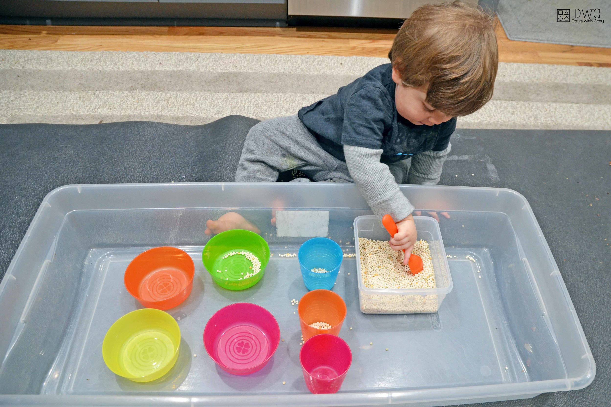 one-year-old sensory play