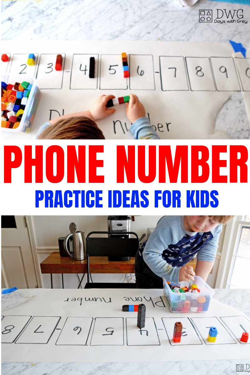Phone number activites for kids, preschool phone number game, kindergarten readiness, .jpg