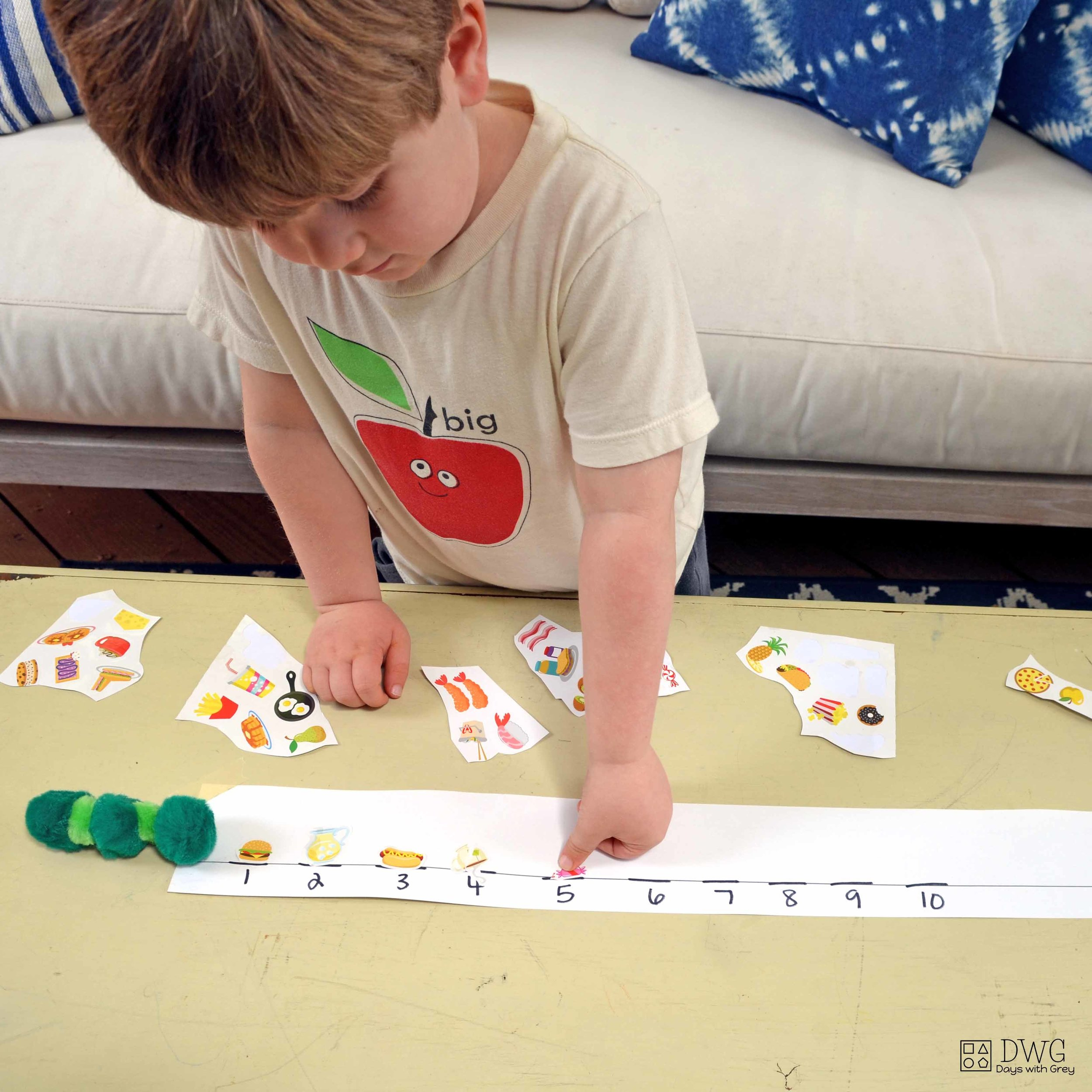 hungry caterpillar counting game