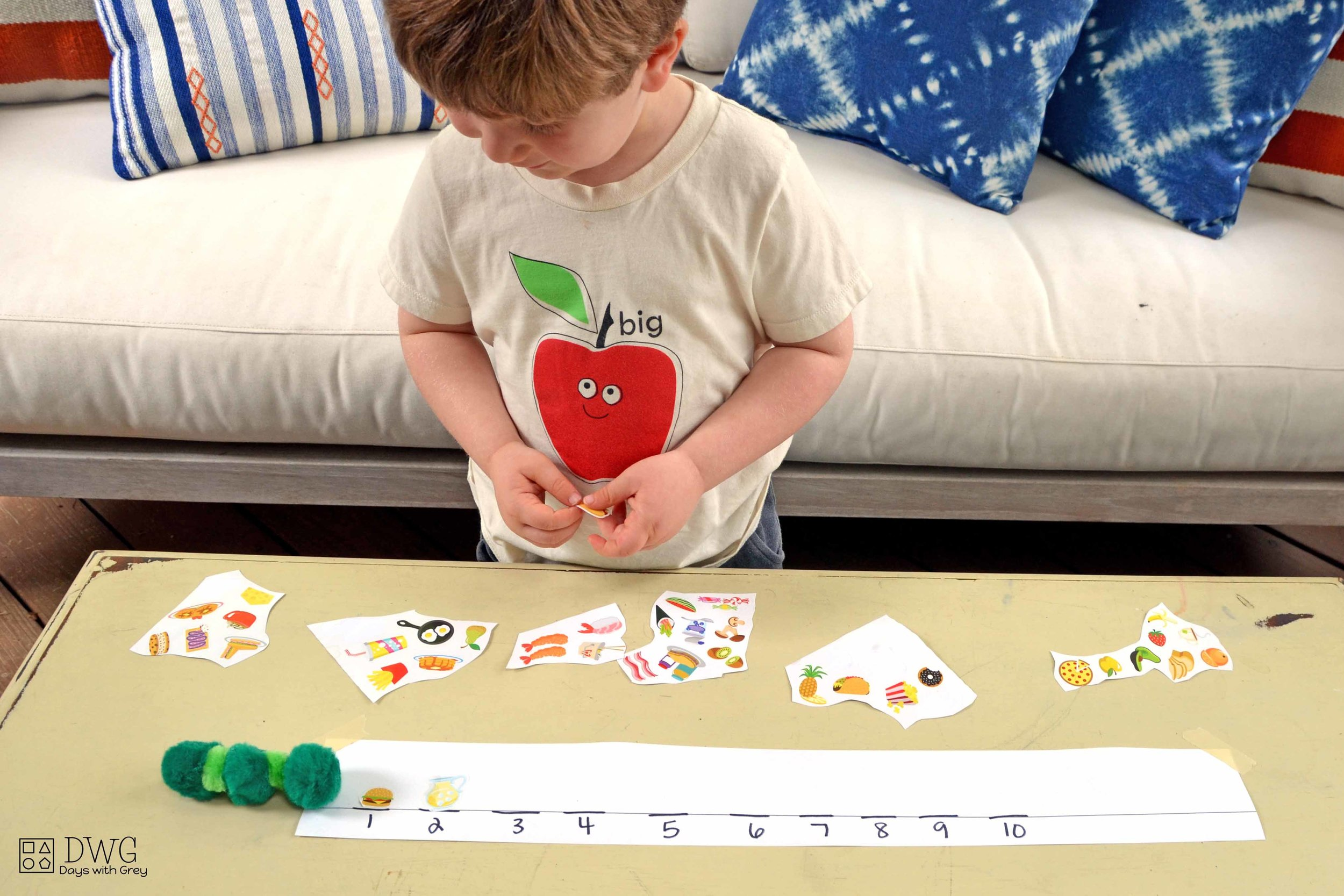 three-year-old counting game