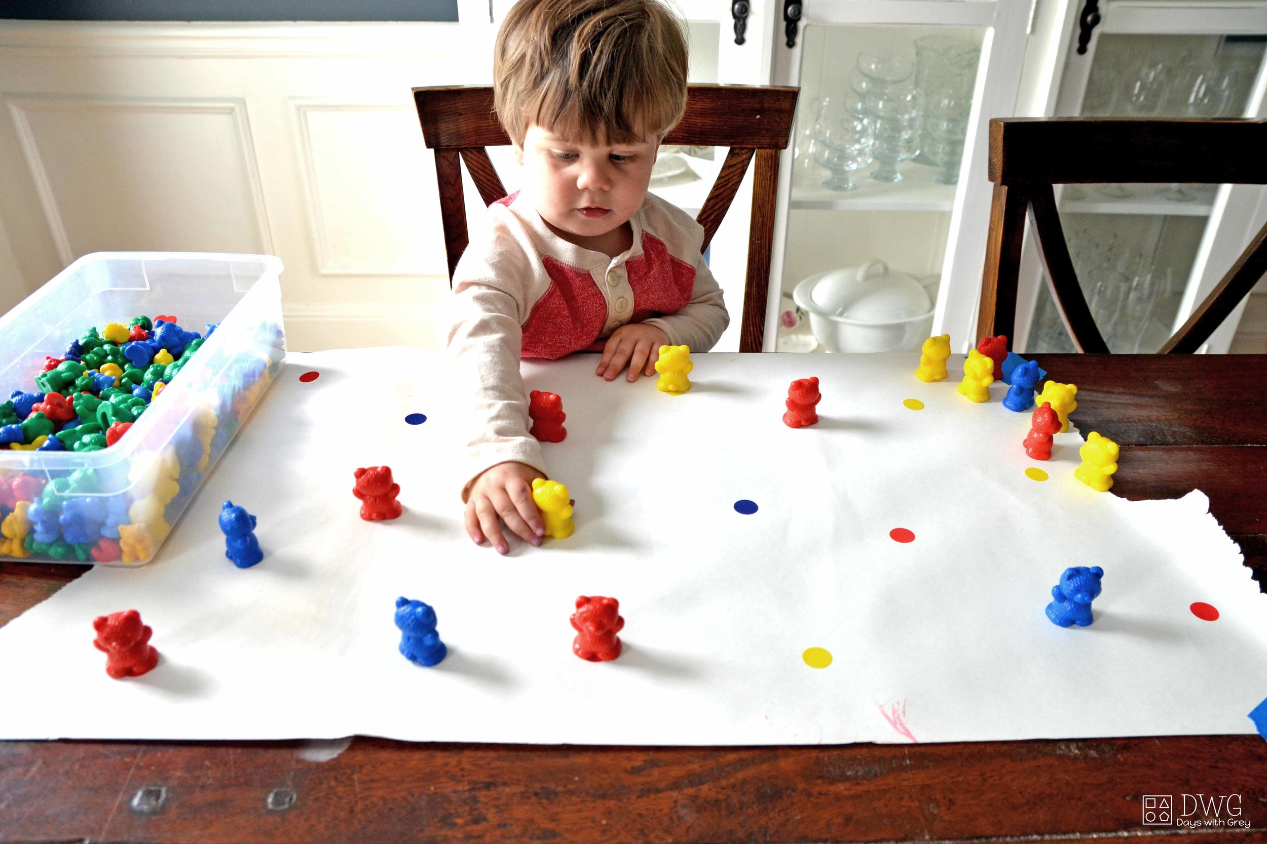 two year old color games