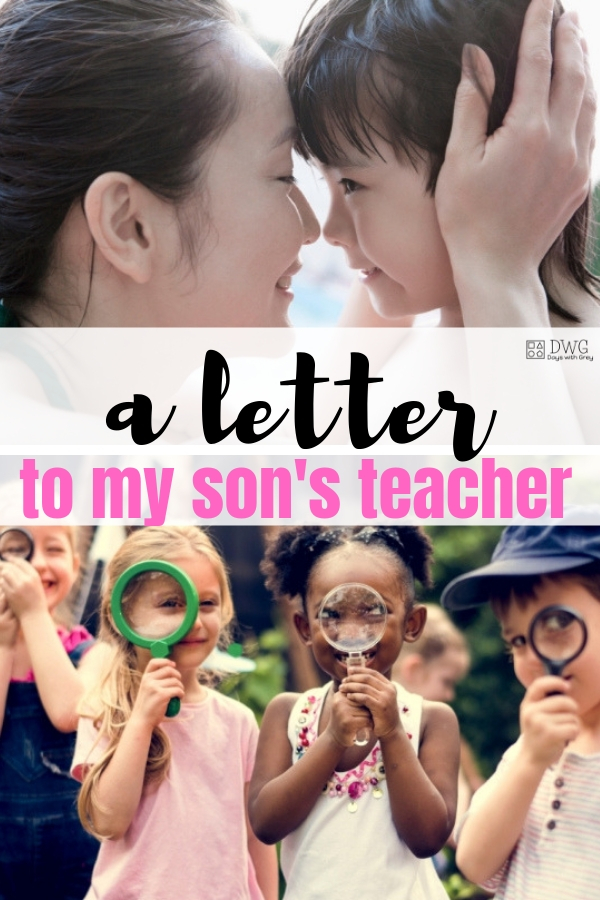 A letter to my son's teacher, preschool letter from mom, mother's day, end of year, thank you letter, #preschooler #thankyou #preschool.jpg