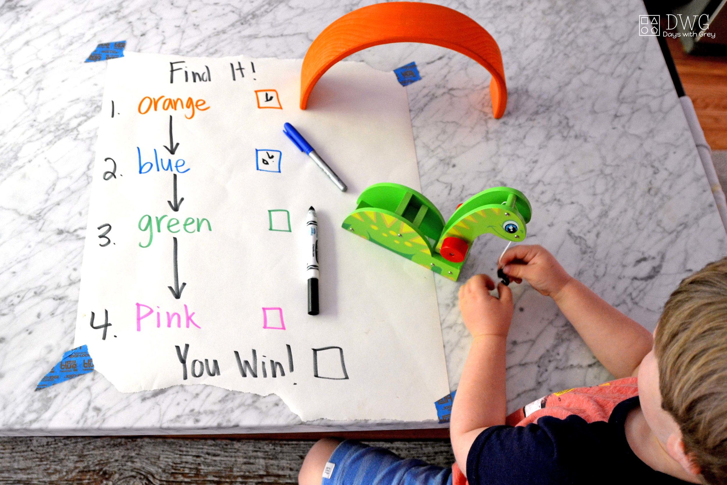 color words activity