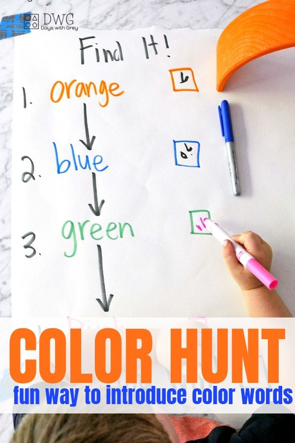color words activity for kindergarteners, color words for preschool, indoor color hunt, #preschool #preschooler #fouryearold #fiveyearold #kindergartener #colorwords.jpg