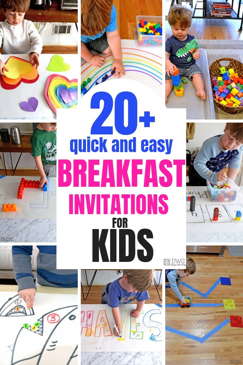 20+ Breakfast Invitations for kids, activities for toddlers, activities for preschool, kindergarten readiness .jpg