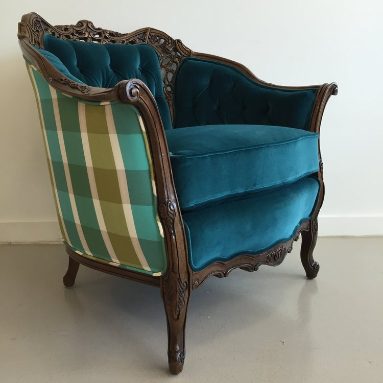 Antique Tufted Armchair