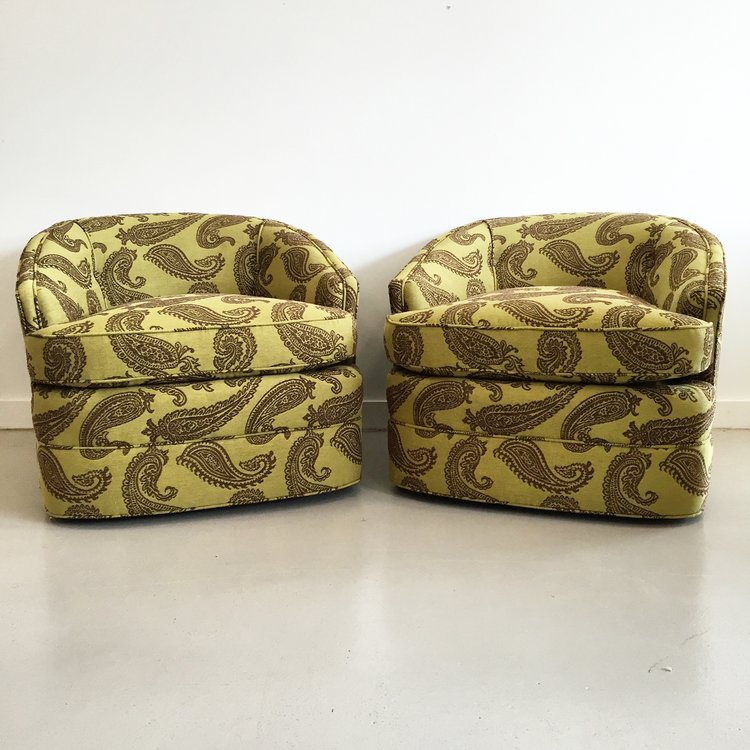 Pair of Vintage Tub Chairs