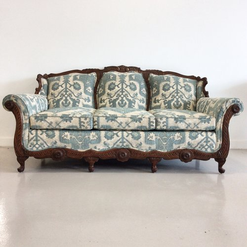 vintage carved sofa