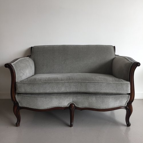 pair of vintage loveseats