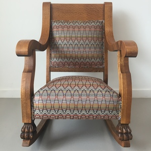 clawfoot rocking chair