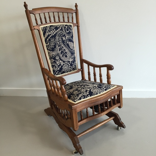 turned leg rocking chair