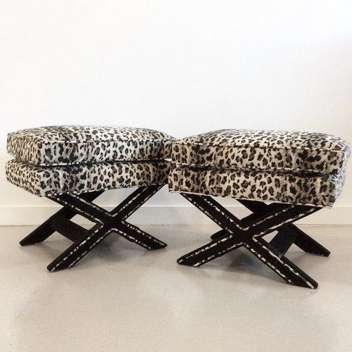 vintage x-bench pair