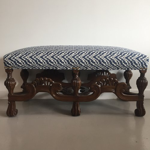 vintage clawfoot bench