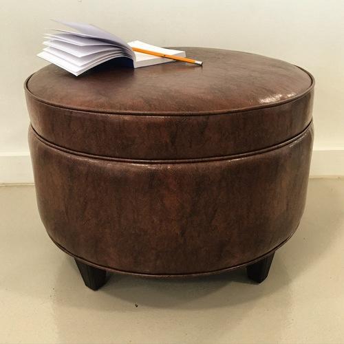 custom built round ottoman
