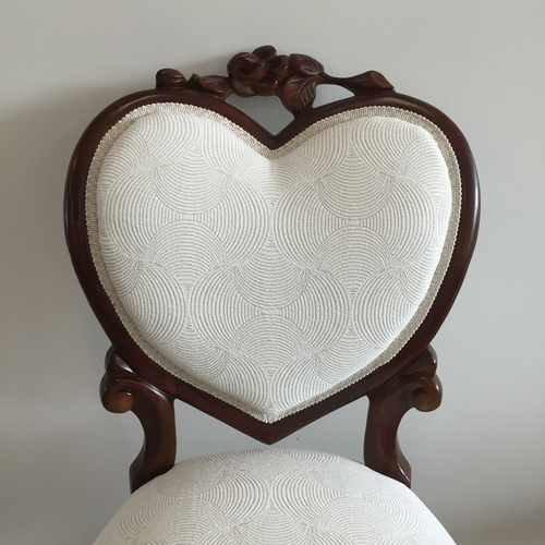 antique heartback occasional