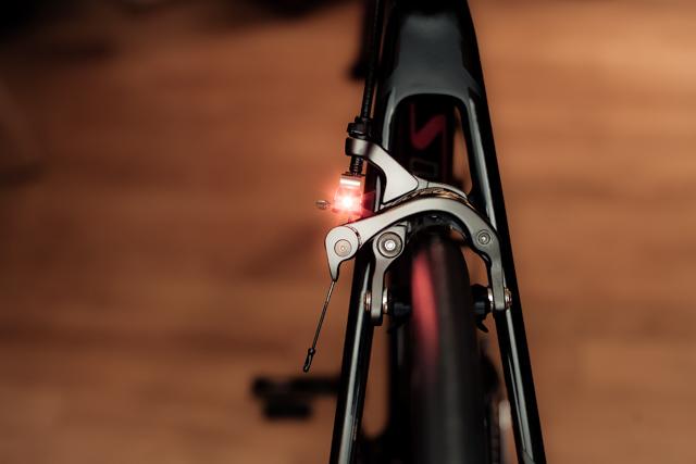 Nano Brake Light while braking.