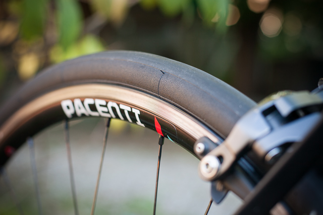 Pacenti SL23 rear rim brake track after 50 miles in and hard braking on fast descents