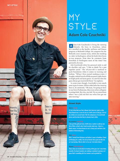 Canadian Running:My Style w/Adam Cole, Streetwear