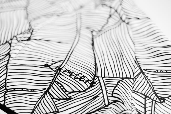 Lumiere Cycling Natural Stripe Jersey - front chest logo